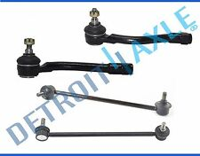New 4pc Front Outer Tie Rod Ends + Sway Bar Links for 2006 - 2011 Kia Rio Rio5