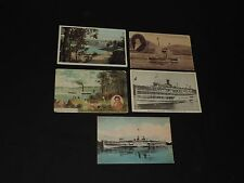 Antique Postcard Lot Cruise Ship Boat Washington Irving Steamboat & More (*383)