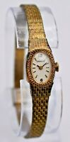 Vintage 1976 Ladies CARAVELLE By Bulova Gold Tone Dress Watch, 17 Jewels, Runs