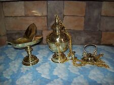 Traditional Style Incense Censer + Thurible + Boat + Spoon