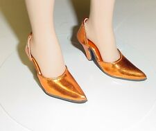"Doll Shoes, Monique  MET ORANGE ""Easy to Wear"" Fit Tonner American Model"