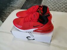 Nike Air Max Size UK 10 270 CLEAN AMAZING RED PREMIER Brand Trainer Never Worn