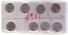 Repubblica Italiana  5 lire 1982 Delfino italma   FDC (8 pezzi)
