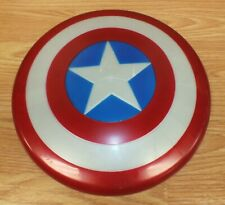 "2011 Marvel Hasbro 10"" (inch) Captain American Plastic Toy Play Shield **READ**"
