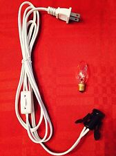 Salt Selinite Electric Lamp Cord And Bulb C7 15W E12 Socket Lighting Lamp Cable