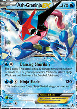 XY133 Ash-Greninja EX Black Star Promo Pokemon Card. NM/MT. In top loader
