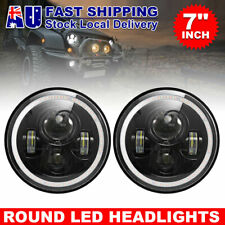 2x 7inch LED Headlights Off-road Light High Low DRL Fit For Jeep Wrangler TJ JK