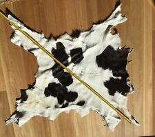 Calf  Skin Rug Soft Fur hide  Natural  brown/ white  baby  cow dog blanket