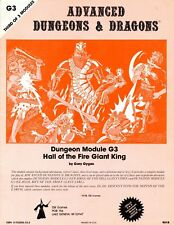 HALL OF THE FIRE GIANT KING G3 MONOCHROME 3RD PRINT VGC! TSR 9018 D&D (2)