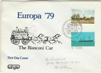 eire ireland 1979 fdc the bianconi car horse carriage stamps cover ref 20336