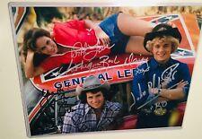 Dukes of Hazzard TV show rare triple autograph photo with COA