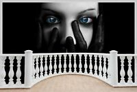 Huge 3D Balcony Gothic Stare Wall Stickers Mural Wallpaper 152