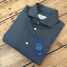 BNWT £145 ETON GANGHESTER Signature Twill Black Diamond Print Shirt 16.5