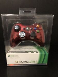 Microsoft Xbox 360 Red Chrome Series Wireless Controller. Brand New Sealed.