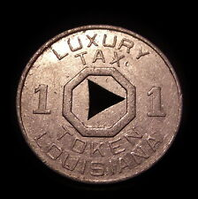 Antique Louisiana Luxury Tax Token Nice Shape Great History!