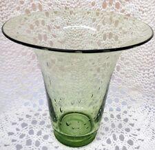 STEUBEN BEAUTIFUL GREEN ART GLASS VASE WITH BUBBLES