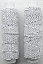 White Shirring Elastic Shearing Elastic 2 Reels  20m