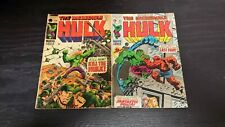 1969 MARVEL COMICS LOT OF 2 INCREDIBLE HULK #120 #122 VG FANTASTIC FOUR VINTAGE