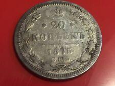 MONETA RUSSIA 20 KOPEKI KOPEKS 1875 argento