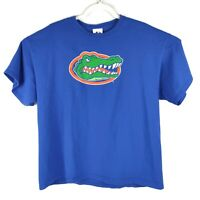 Majestic NCAA University Of Florida Go Gators Tshirt Blue Orange Mens Size XL