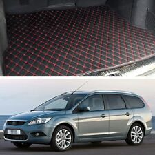 Premium Car Trunk Mat Leather Waterproof Fit for 2008-2010 Ford Focus Hatchback