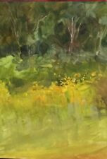 Field and Forest 5x7 Oklahoma Oil Painting Margaret Aycock sale