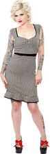 130249 Black & White Houndstooth Wiggle Dress 50s Classic Sourpuss XX-Large 2XL