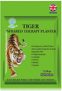 Tiger Balm Pain Patches 10 per pack, 10cm x 7cm - UK Stock