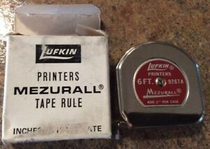 Vintage Lufkin Printers Mezurall Tape Rule