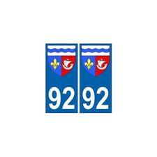 92 Hauts de Seine autocollant plaque blason armoiries stickers département droit