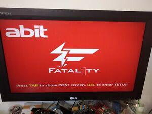 Motherboard Abit Fatal1ty FP-IN9 SLI + Intel Core2Duo E6750 +4gb ddr2+I/O shield