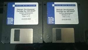 Voice with Vision Dialogic Development Package MS-DOS - System Maintenance 4.13