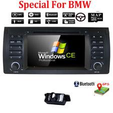 """For BMW E53 X5 E39 Car Stereo DVD Player 7"""" Radio GPS Navi BT 1080P+Cam E"""