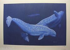 "Randy FEHR ""Belugas"" LTD RARE art mint print Certificate COA WHALES SEA OCEAN"