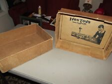 THE RARE MYSTERIOUS IVES IN-SIDE-OUT BOX FOR UN-CATALOGED IVES/LIONEL SETS 1930