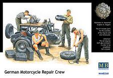 MASTER BOX™ 3560 WWII German Motorcycle Repair Crew Figuren in 1:35