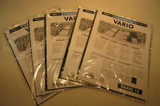 5 Packs of 5 Vario Stamp Stock Pages #1S Leuchtturm No. 337 942 Lighthouse