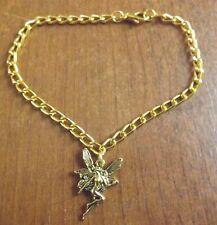 bracelet doré 20 cm fée 22x15mm