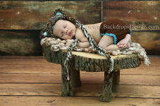 Newborn Stump for photo prop baby photography prop wood bed log bed hand made