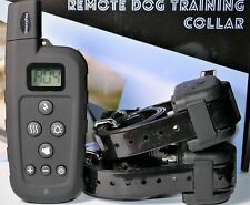 GROOVYPETS® Waterproof Rechargeable 650 Yard Remote 2 Dog Training Shock Collar