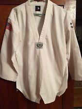 TaeKwonDo Martial Arts White 2 Pc. Polyes./Cotton Practice/Halloween Outfit Sz 3