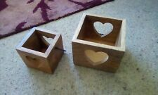 Wooden heart candle holders. From Next