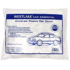 Clear Plastic Disposable Car Cover Temporary Universal Rain Dust Garage