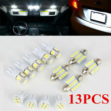 13x White LED Package Interior For Dome Map License Lights T10&31mm Bulb Lamp