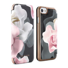 Official Ted Baker Aw16 Womens Floral Folio Case Collection for iPhone 6s 6 Rose Black 36188