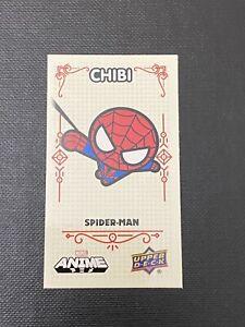 2020 UD Marvel Anime #22 of 65 SPIDER-MAN Chibi Mini Card 1:80