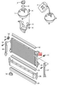 Genuine AUDI SKODA SEAT A1 Rapid Toledo 8XF 8XK Cooler For Coolant 6C0121253A