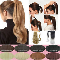 100% Clip in Remy Human Hair Extensions Ponytail Extensions as Human Hairpiece