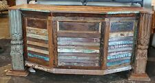 "65"" L office desk solid reclaimed salvage wood hand crafted distressed paint"