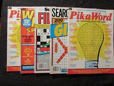 1973-82 Puzzle Magazine LOT of 5 FN 6.0 Crossword Word Hunt Fill-Ins Pik-A-Word